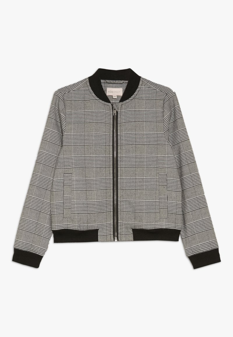Kids ONLY - KONPOPTRASH SOFT CHECK - Bomber Jacket - medium grey melange