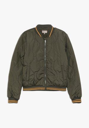 KONDORAH QUILTED JACKET - Bomber Jacket - grape leaf/cadmium yellow
