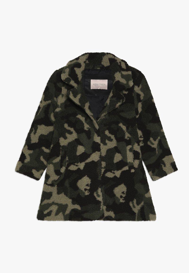 Kids ONLY - KONNOELLE CAMO COAT - Płaszcz zimowy - black olive
