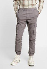 Kiez - CUFFED PANT - Cargobyxor - dark grey - 0
