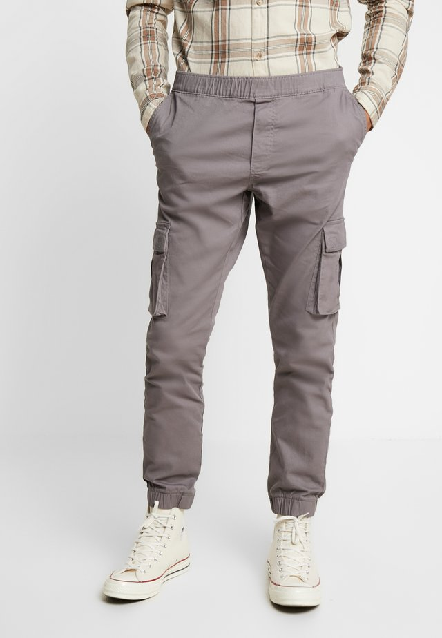 CUFFED PANT - Cargo trousers - dark grey