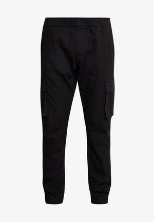 CUFFED PANT - Pantalon cargo - black