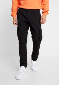 Kiez - CUFFED PANT - Cargo trousers - black - 0