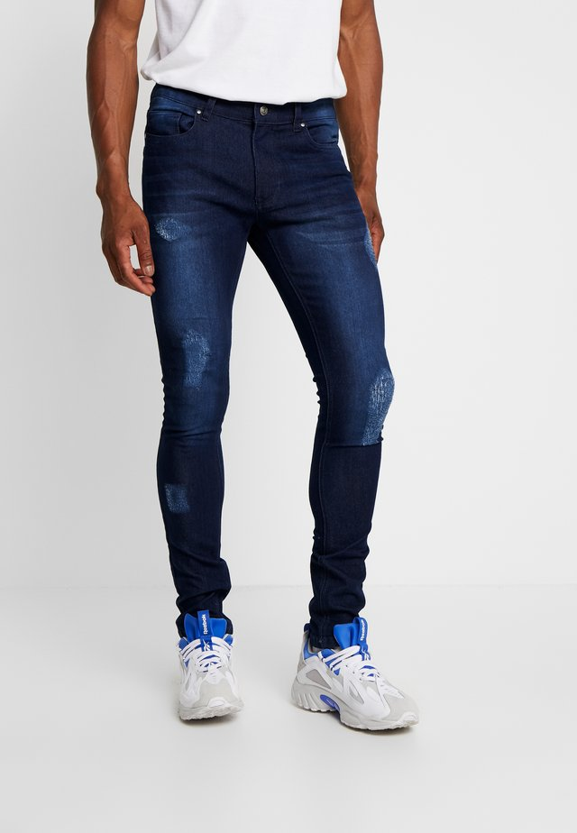 DISTRESSED  - Jeansy Skinny Fit - dark wash