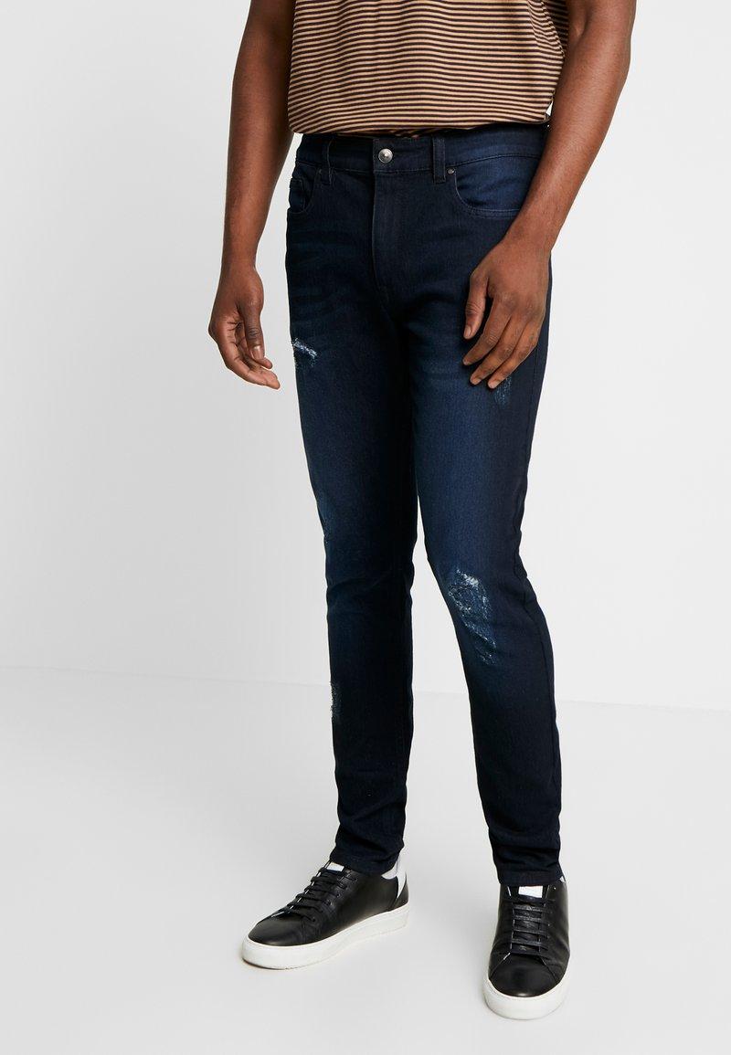 Kiez - DISTRESSED  - Skinny džíny - washed black