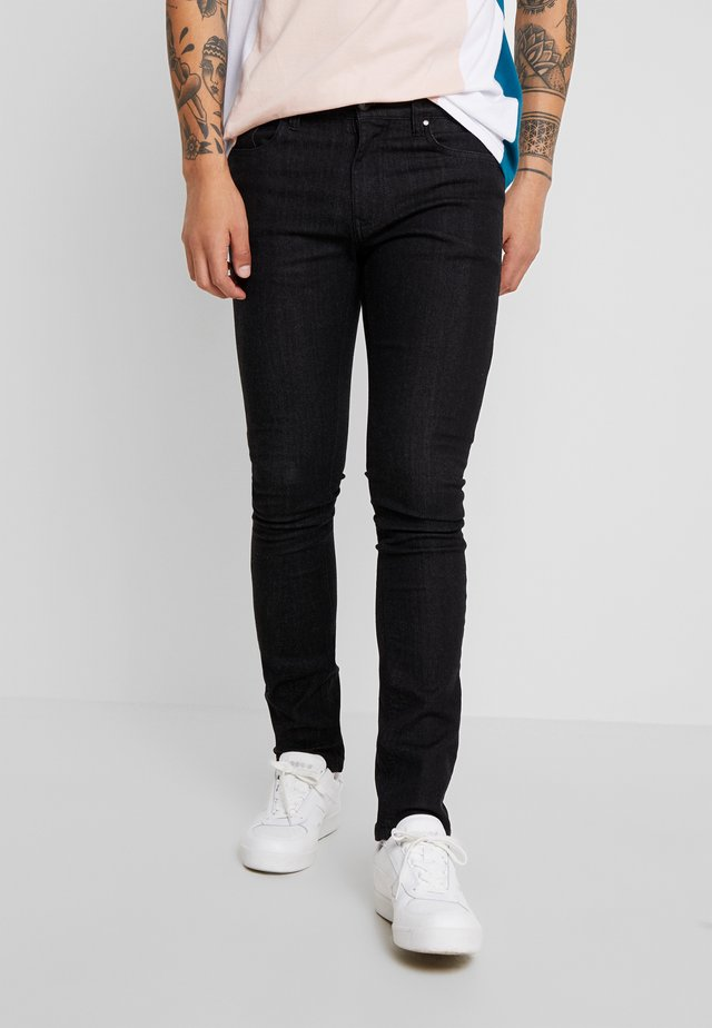 Jeansy Skinny Fit - clean black