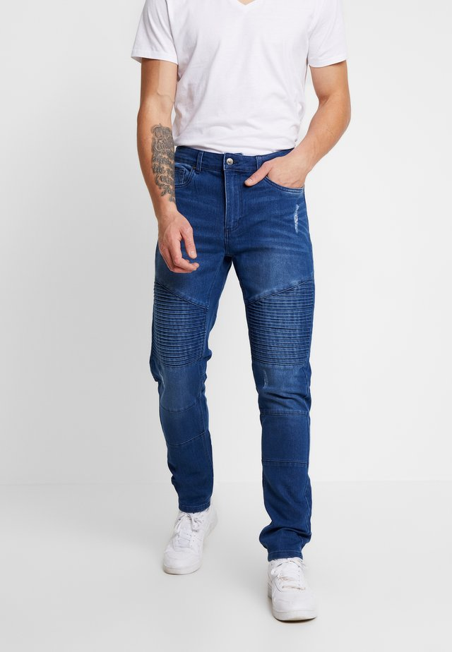 BIKER - Jeansy Slim Fit - mid wash