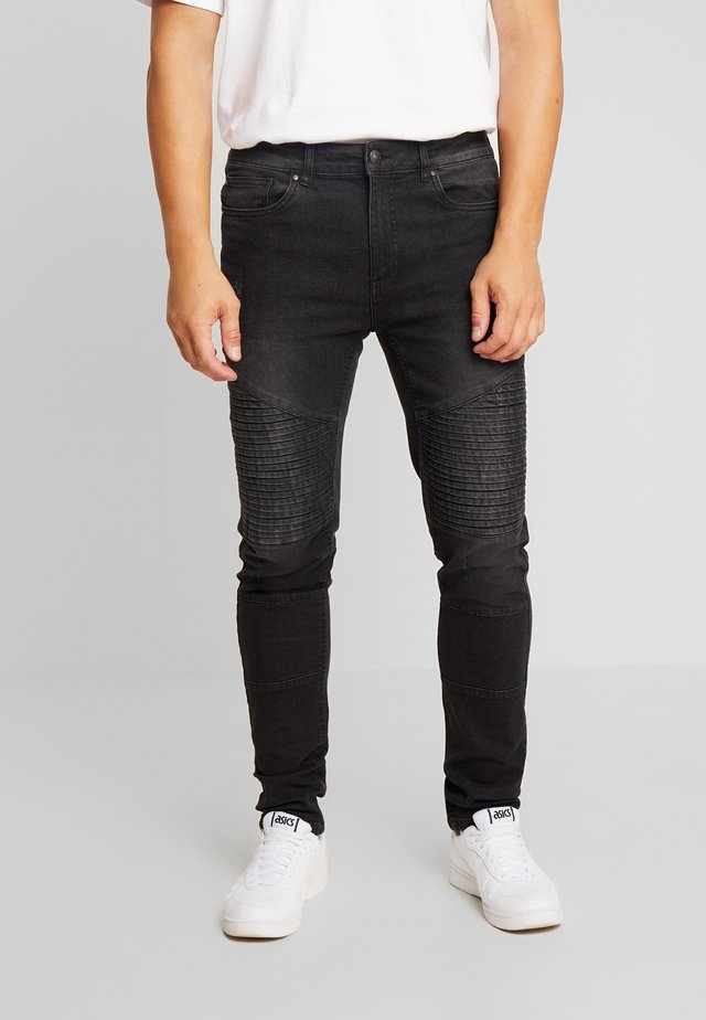 BIKER - Jeansy Slim Fit - clean black