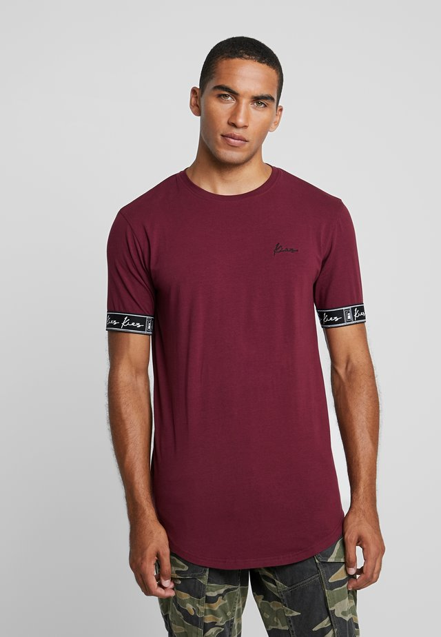 CUFFED TEE - T-shirt con stampa - burgundy