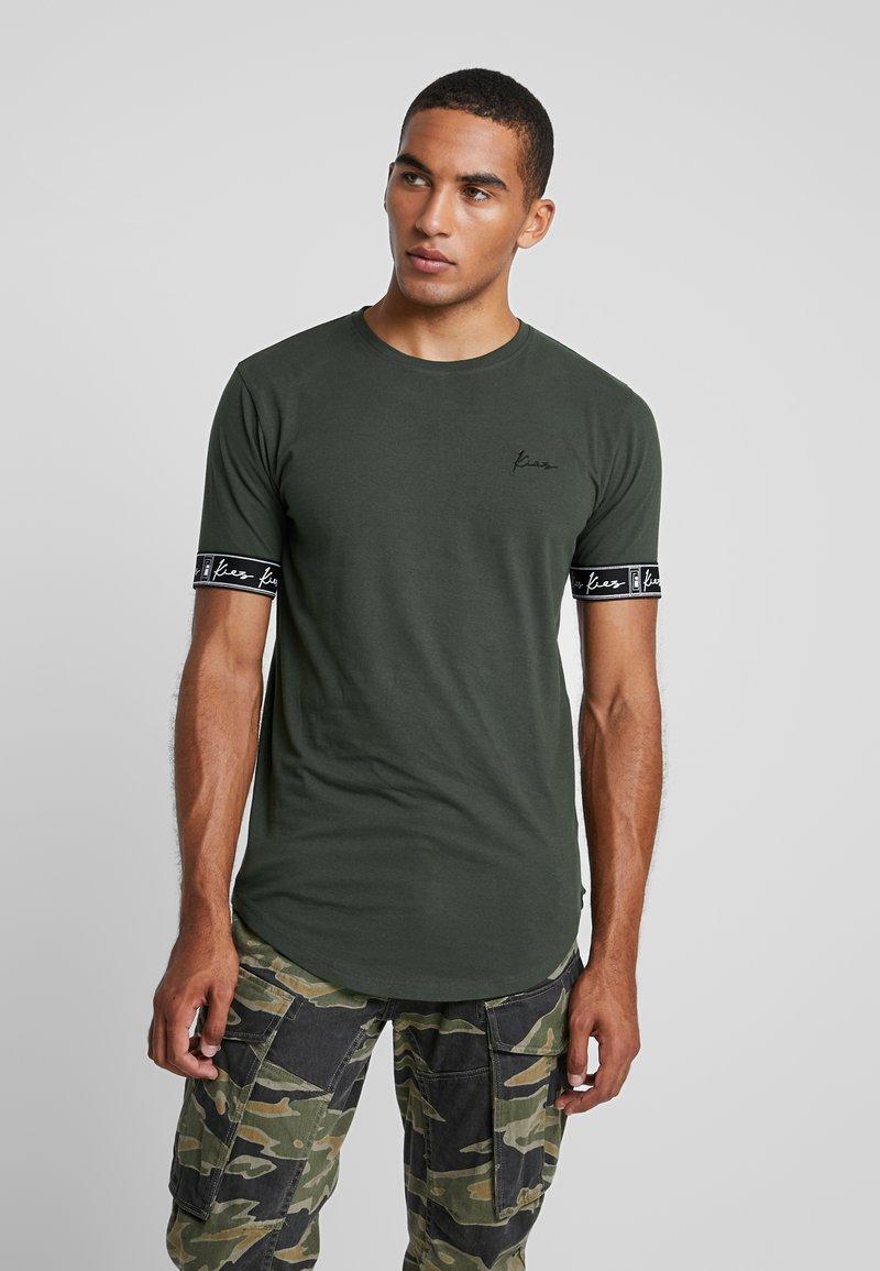 Kiez - CUFFED TEE - T-shirt imprimé - dark khaki
