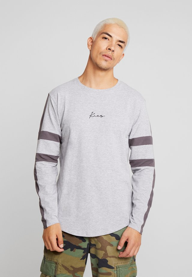 LONG SLEEVE ARM STRIPES - Long sleeved top - base/dark grey