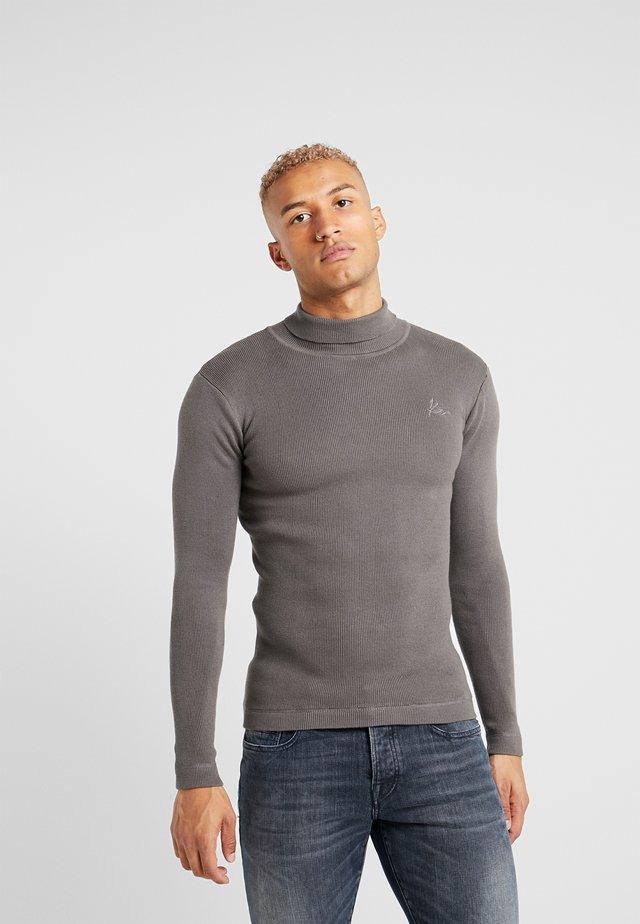 ROLL NECK JUMPER - Stickad tröja - charcoal