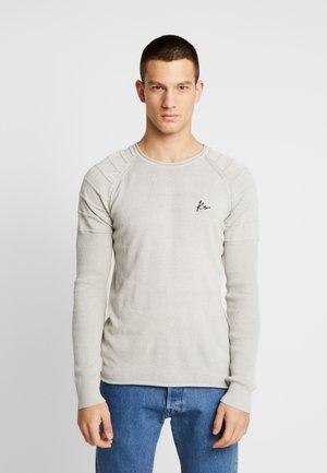 BIKER JUMPER - Sweter - beige