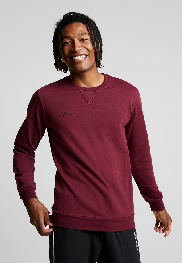 LOGO CREW NECK - Sweatshirt - burgundy
