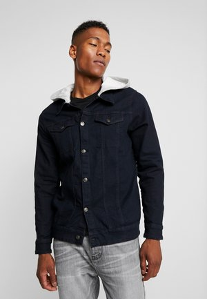 JACKET WITH HOOD - Veste en jean - washed black