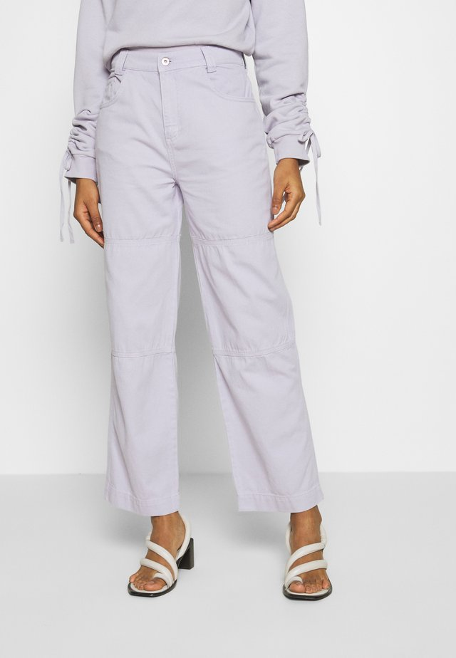 DRILL PANTS - Džíny Relaxed Fit - lilac