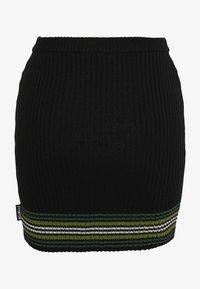 Kickers Classics - STRIPED HEM SKIRT - Mini skirt - black/green - 1