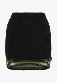 Kickers Classics - STRIPED HEM SKIRT - Mini skirt - black/green - 0