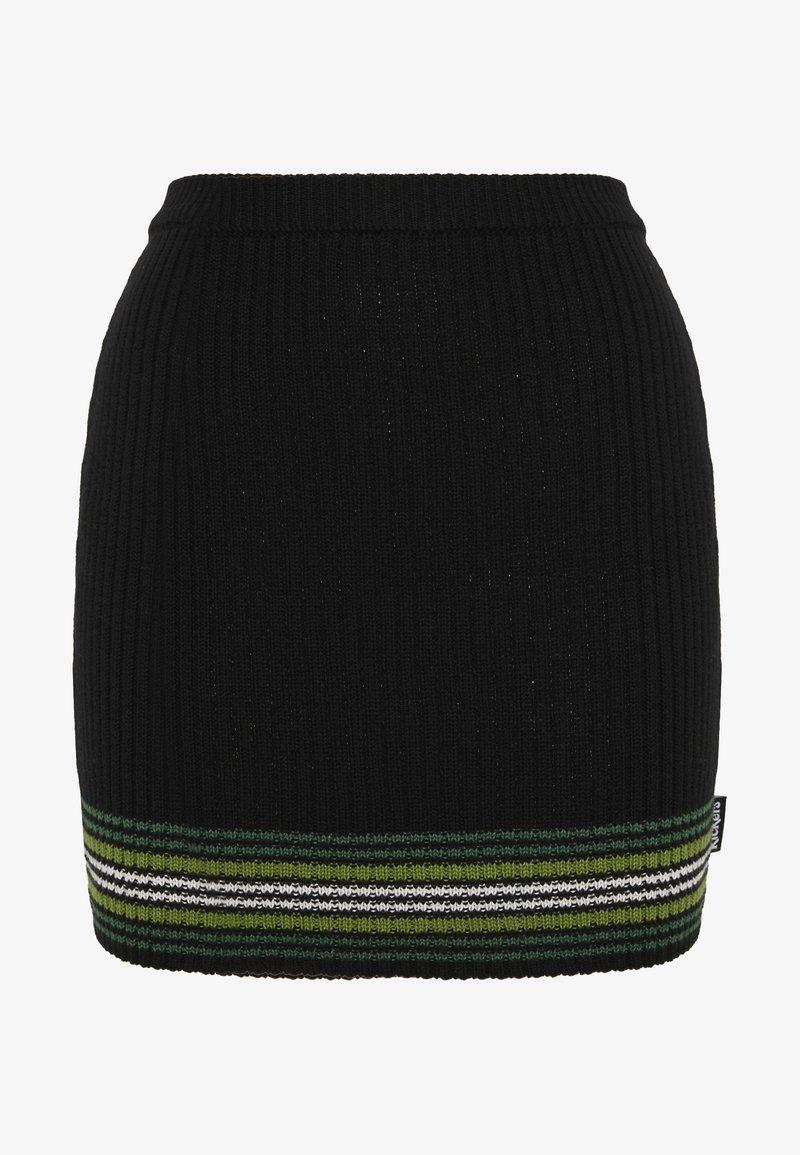 Kickers Classics - STRIPED HEM SKIRT - Mini skirt - black/green