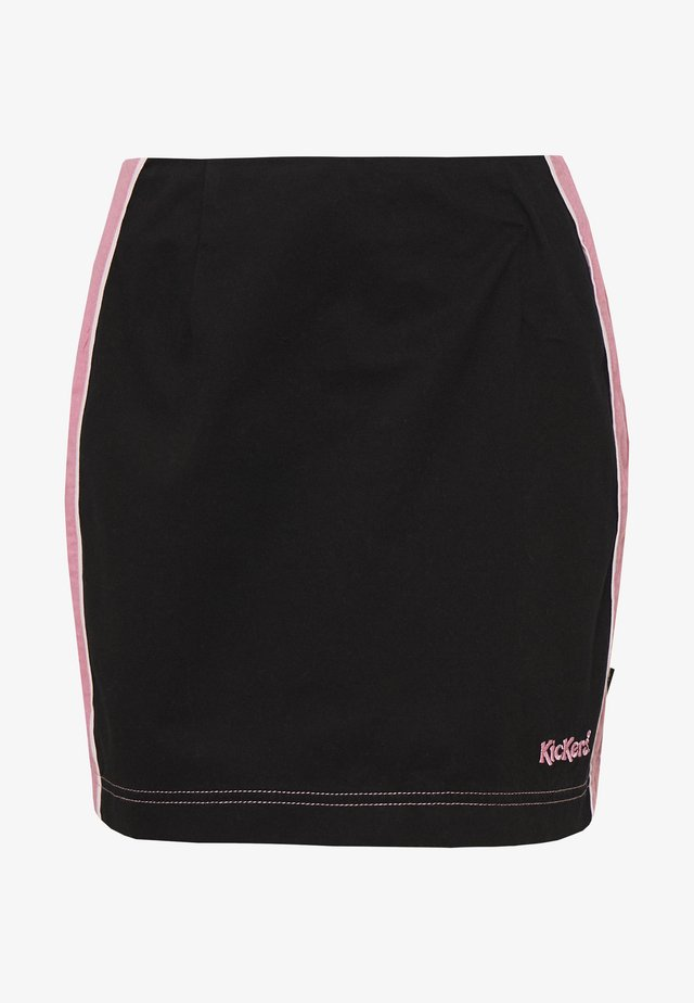 SIDE SEAM PANELLED MINI SKIRT - Minisukně - pink/black
