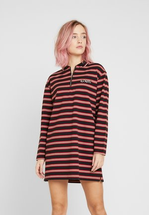 STRIPE COLLARED DRESS - Kjole - black/multi