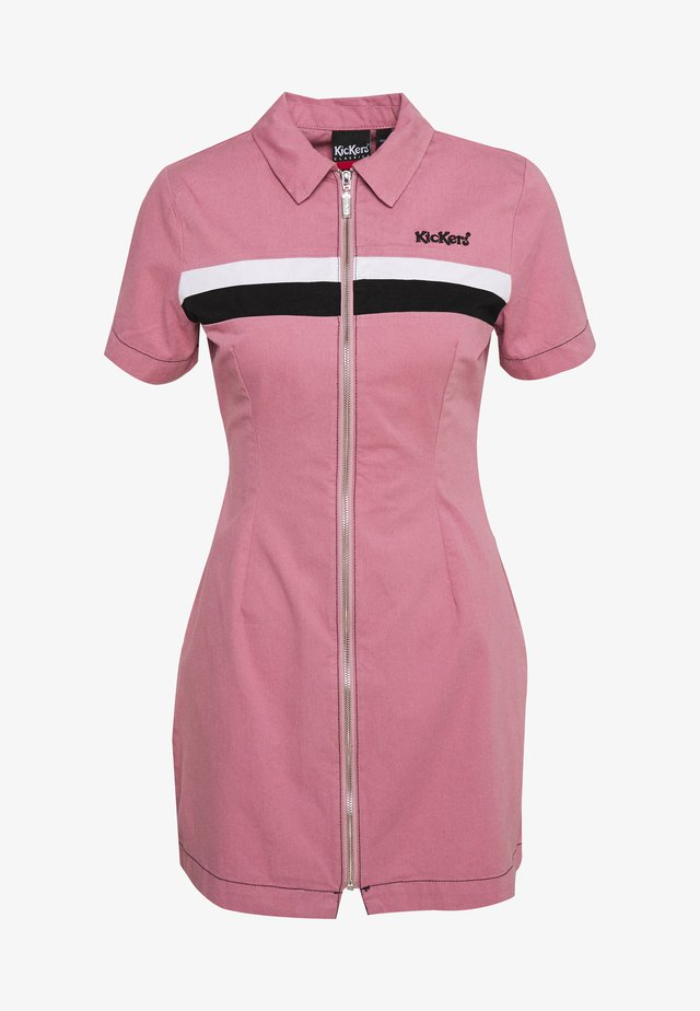 CHEST PANELLED FITTED DRESS - Blusenkleid - pink