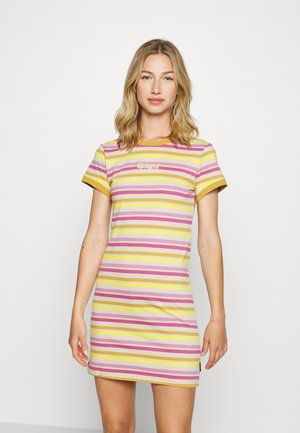TONAL RINGER DRESS - Sukienka z dżerseju - yellow/pink