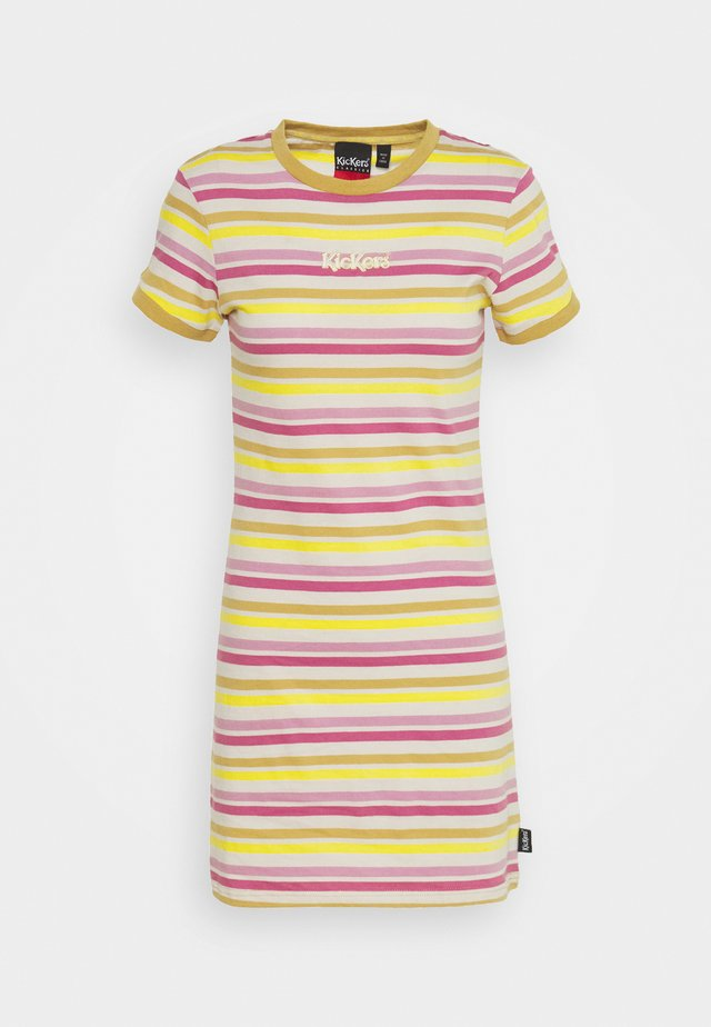 TONAL RINGER DRESS - Jerseyklänning - yellow/pink