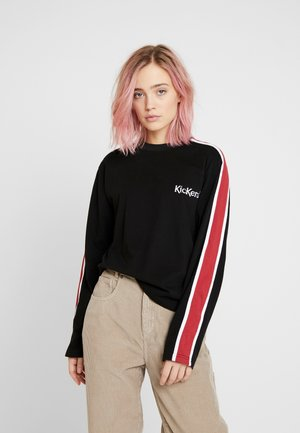 SLEEVE PANEL LONGSLEEVE - T-shirt à manches longues - black