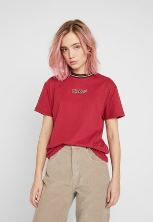 BOY TEE WITH TRIM - Triko s potiskem - red