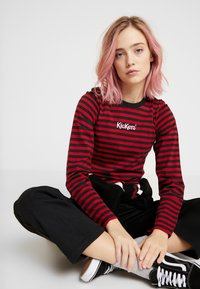 Kickers Classics - BOY STRIPE SLEEVE - Top s dlouhým rukávem - burgundy - 3