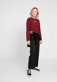 Kickers Classics - BOY STRIPE SLEEVE - Top s dlouhým rukávem - burgundy - 1