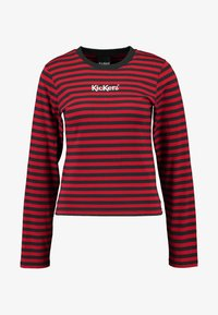 Kickers Classics - BOY STRIPE SLEEVE - Top s dlouhým rukávem - burgundy - 4