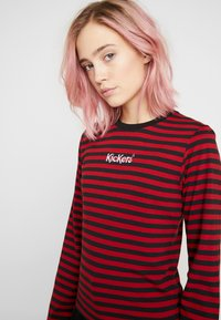 Kickers Classics - BOY STRIPE SLEEVE - Top s dlouhým rukávem - burgundy - 5