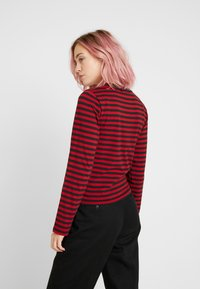 Kickers Classics - BOY STRIPE SLEEVE - Top s dlouhým rukávem - burgundy - 2