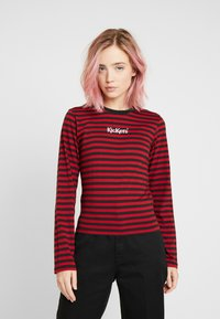 Kickers Classics - BOY STRIPE SLEEVE - Top s dlouhým rukávem - burgundy - 0