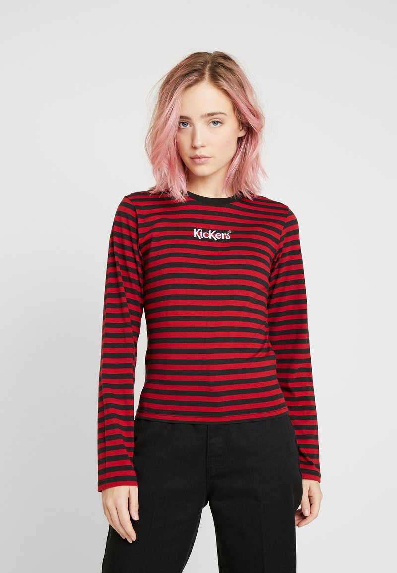 Kickers Classics - BOY STRIPE SLEEVE - Top s dlouhým rukávem - burgundy