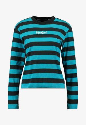 RUGBY STRIPE LONGSLEEVE - Long sleeved top - teal/black