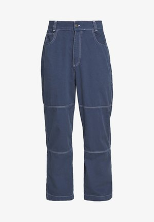 DRILL TROUSERS WITH TOPSTITCH - Trousers - navy