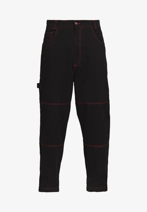 DRILL TROUSERS WITH TOPSTITCH - Kalhoty - black