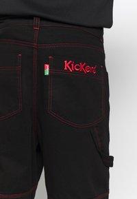 Kickers Classics - DRILL TROUSERS WITH TOPSTITCH - Broek - black - 5