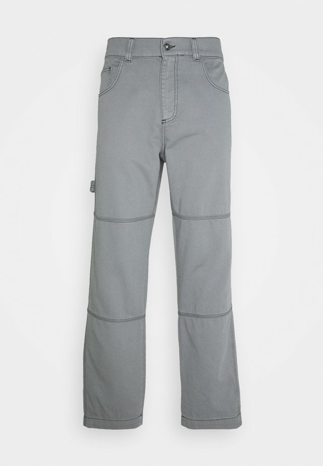 DRILL TROUSERS WITH TOPSTITCH - Kalhoty - monument