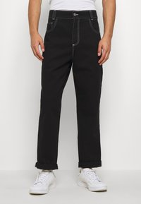 Kickers Classics - CLASSIC CARPENTER TROUSER - Džíny Relaxed Fit - black - 0