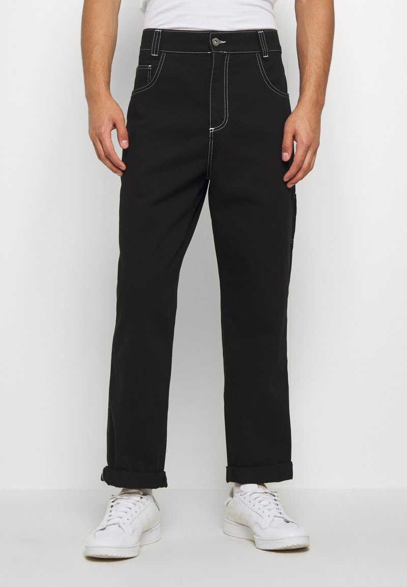 Kickers Classics - CLASSIC CARPENTER TROUSER - Džíny Relaxed Fit - black