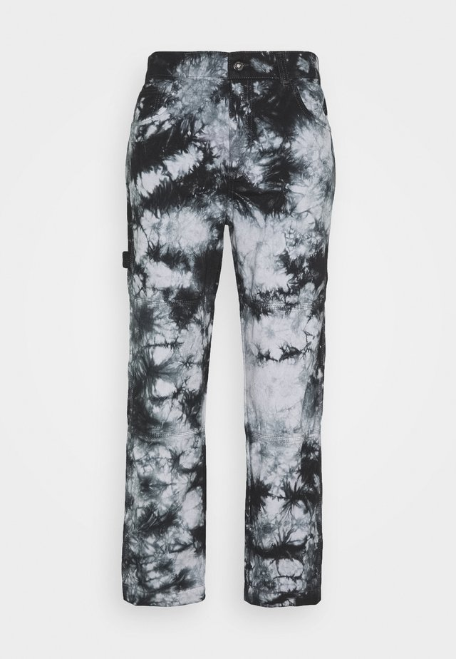 TIE DYE UTILITY COMBAT TROUSER - Jeans relaxed fit - grey