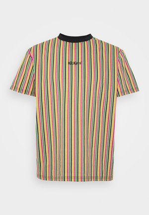 VERTICAL STRIPE TEE - Triko s potiskem - yellow/green/pink
