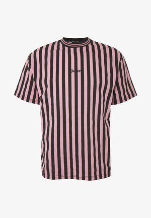 VERTICAL STRIPE TEE - T-shirt con stampa - pink/black