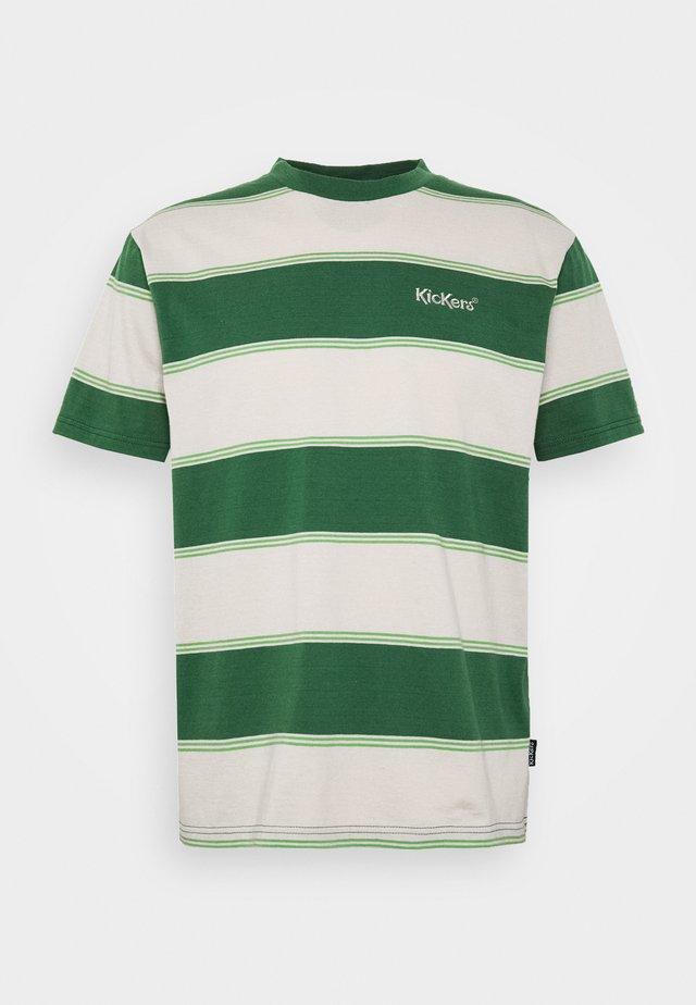 HORIZONAL STRIPE TEE - T-shirt imprimé - beige/green