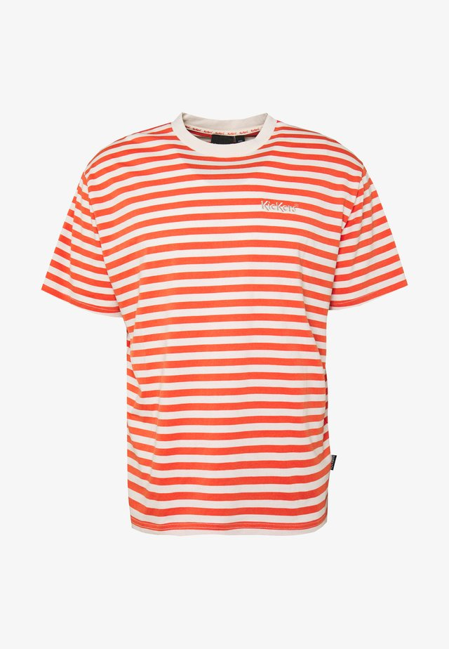 HORIZONAL STRIPE TEE - Printtipaita - orange