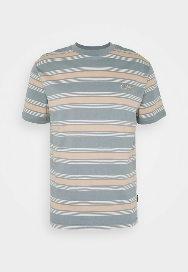 STRIPE TEE - T-shirts med print - tan/monument